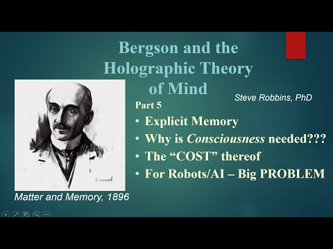 Bergson's Holographic Theory - 5 - Explicit Memory in 4-D being