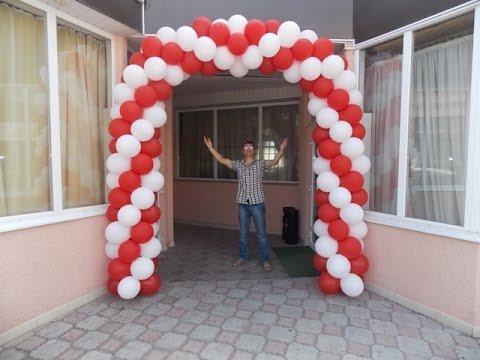 КАК СДЕЛАТЬ ДВУХЦВЕТНУЮ АРКУ ИЗ ВОЗДУШНЫХ ШАРОВ How To Make A Balloon Arch Without Helium