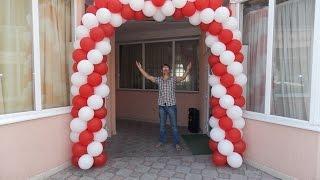 видео Изготовление свадебной арки из воздушных шаров своими руками