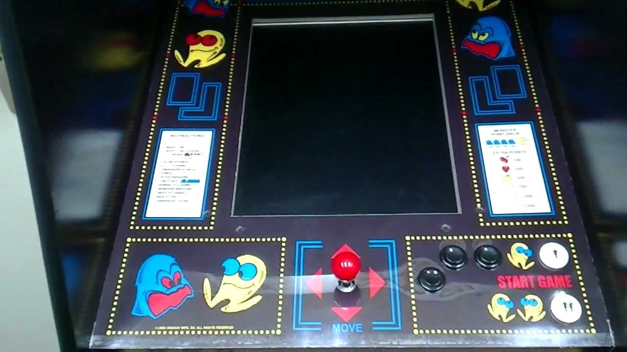 Cardboard Pac-Man Arcade Cabinet