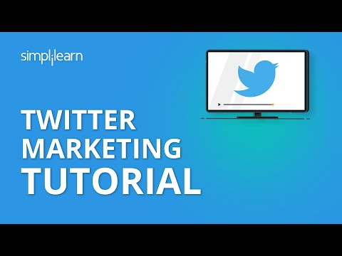 Twitter Marketing Tutorial - Twitter Marketing Strategies - Digital Marketing Tutorial - Simplilearn - 동영상