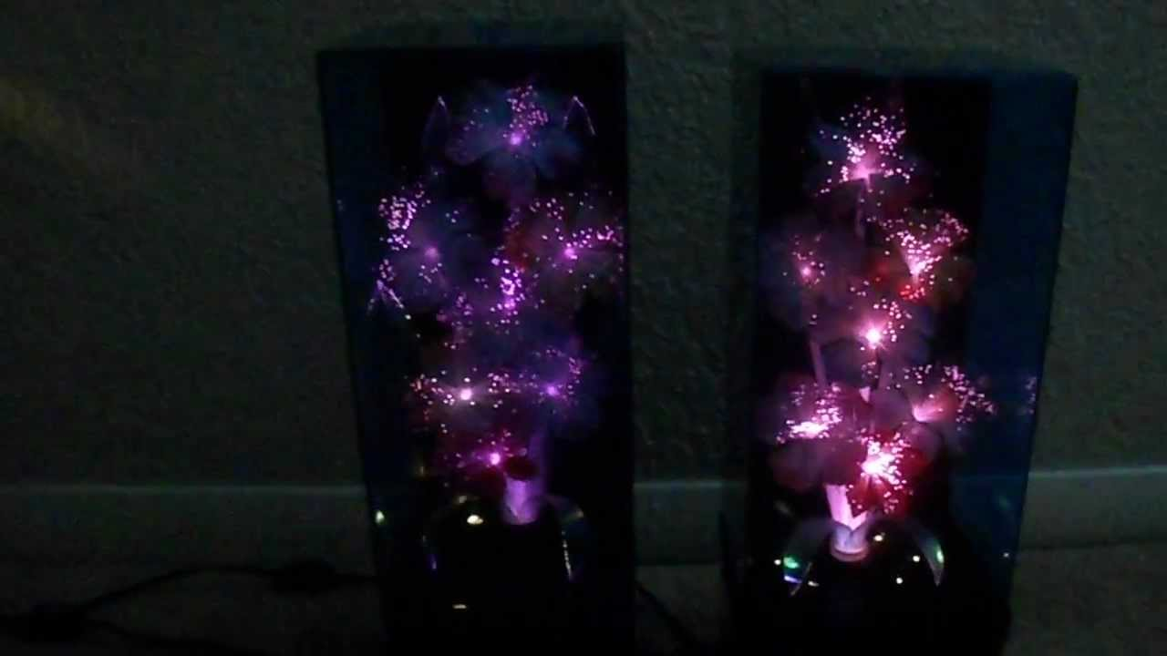 Fibre optic christmas flowers and xmas flowers - My 2 Fiber Optic Color Changing Flowers Lamps Music Boxs Vintage