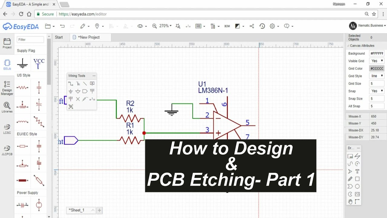 Homemade Pcb Etching Through Hole Parts Part 1 Youtube Photo Resist Method Of A Printed Circuit Board