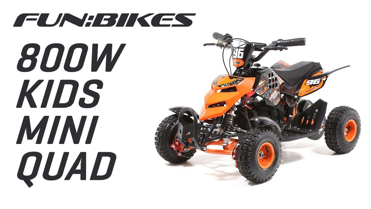 Product Overview Funbikes 800w Electric Kids Mini Quad Bike Youtube