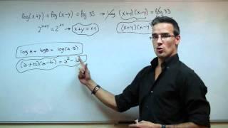 Sistema de ecuaciones logaritmicas 1ºBACHI unicoos logaritmo matematicas