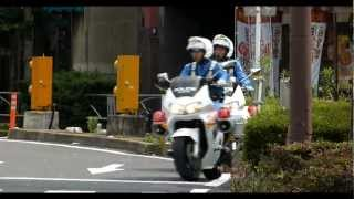 白バイが違反者にマジギレ。A police officer strongly admonished a traffic violator.