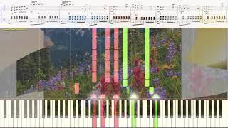The Lonely Shepherd (Одинокий пастух) - J. Last (Ноты и Видеоурок,  фортепиано, баян) (piano cover)