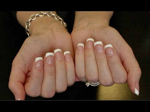 DIY 5 Min French Manicure * Kiss Press On Nails* - YouTube