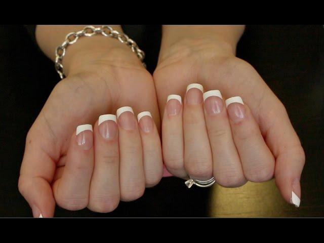 DIY 5 Min French Manicure * Kiss Press On Nails* - clipzui.com