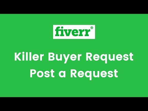 How to send Fiverr Killer Buyer Request & Post a Request Tips 2017 - Bangla Tutorial