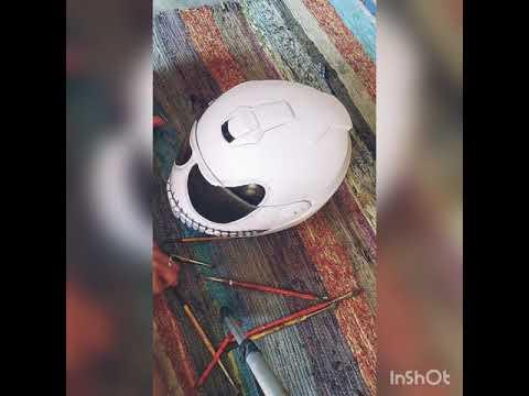 VENOM painting on helmet by SUSHANT BADHANI ||ARTIST ENGINEER||