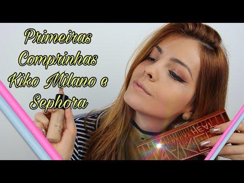 PRIMEIRAS COMPRINHAS DO CANAL - KIKO MILANO E SEPHORA