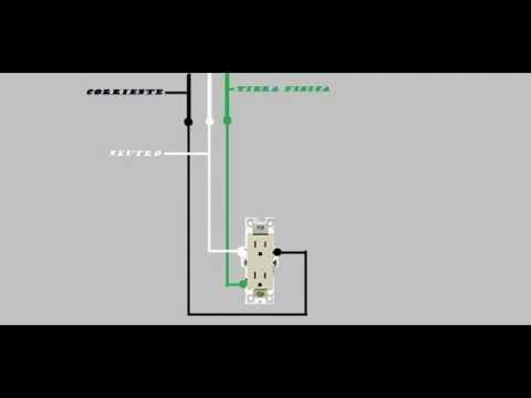 Como conectar un contacto youtube for Como instalar un estor plegable