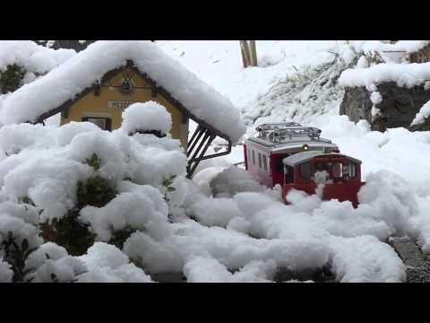 Winter 14 Gartenbahn-Schneepflug