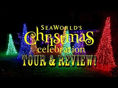 SeaWorld Orlando Christmas Celebration 2016 Park Tour & Review! Rudolph, Shows, & Lights!