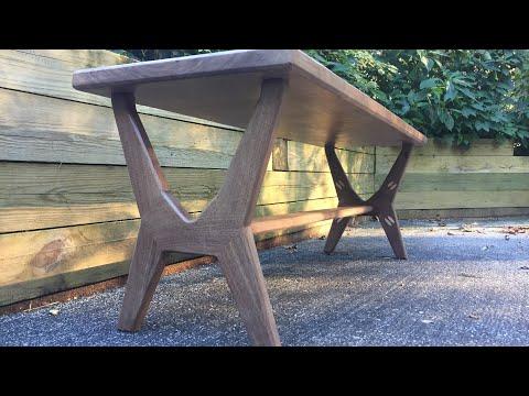 How to make a Modern Walnut Bench