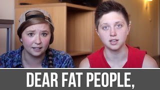 Dear Fat People Response [TW: Self Harm, Abuse]