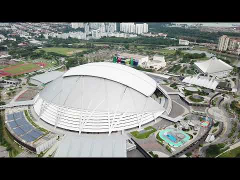 Singapore Sports Hub from Above