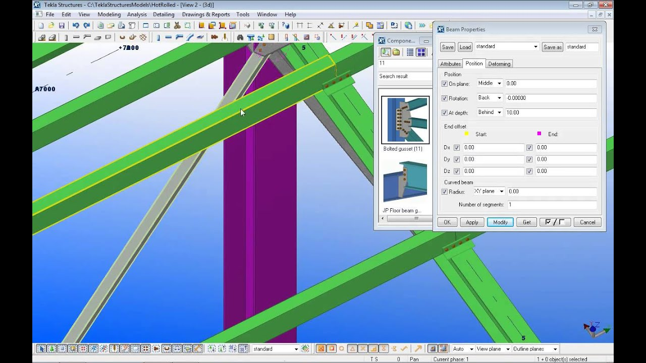 tekla structures lesson 7 youtube