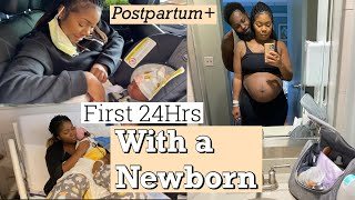 FIRST 24 HOURS WITH A NEWBORN |Bringing Baby Home| First Time Mom!!!