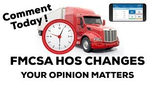 FMCSA Hours of Service Proposed Changes FULLY  EXPLAINED   ( OOIDA / TRUCK NATION )