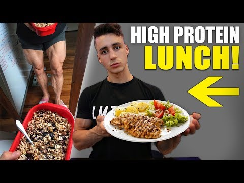 Easy High Protein Lunch (69 GRAMS!!)