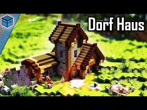 Minecraft Dorf Haus Bauen 🏡 Dorf Haus In Minecraft 1.14 Bauen Deutsch (eng. Subtitle)