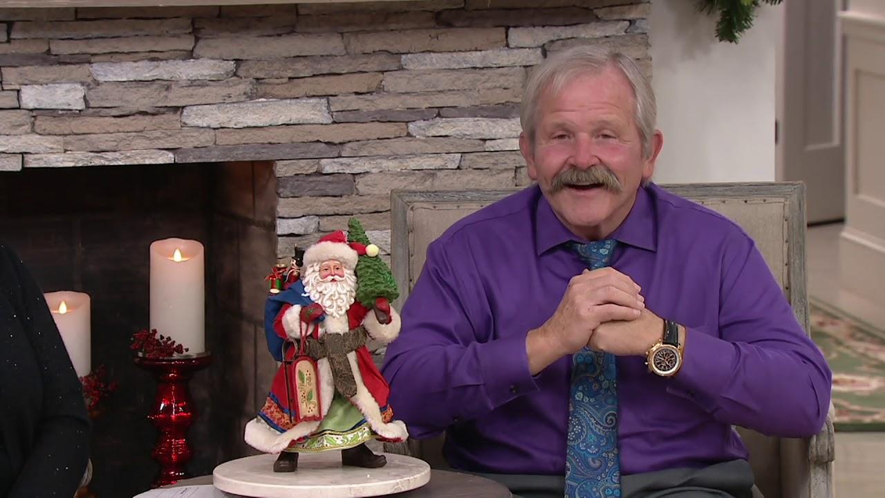 Jim Shore Heartwood Creek Santa With Christmas Gifts On Qvc