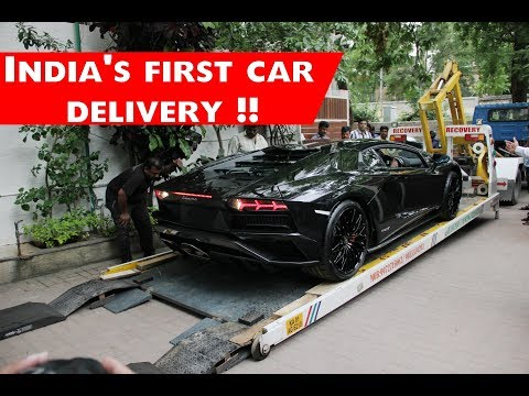 Watch India S First Lamborghini Aventador S Being Delivered To Owner