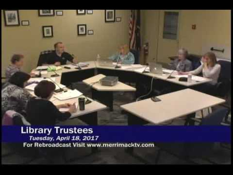 Library Trustees of the Trust Fund: April 18, 2017