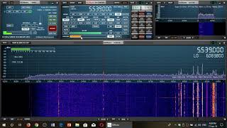 Unknown Transmission received on 5539 Khz USB shortwave with SDRplay RSP1A