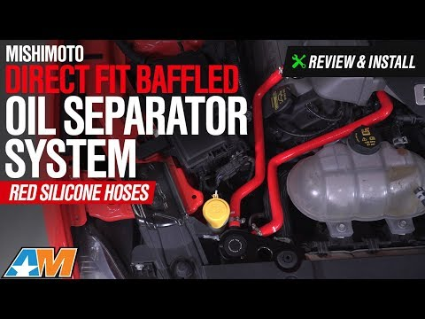 2015-2017 Mustang GT Mishimoto Direct Fit Baffled Oil Separator System Review & Install