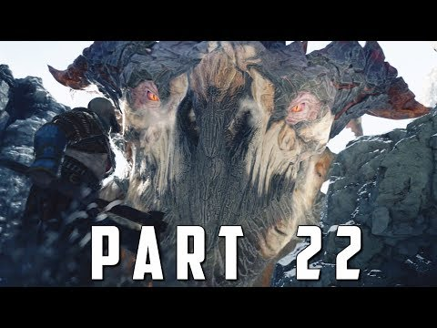 GOD OF WAR Walkthrough Gameplay Part 22 - HRAEZLYR DRAGON BOSS (God of War 4)