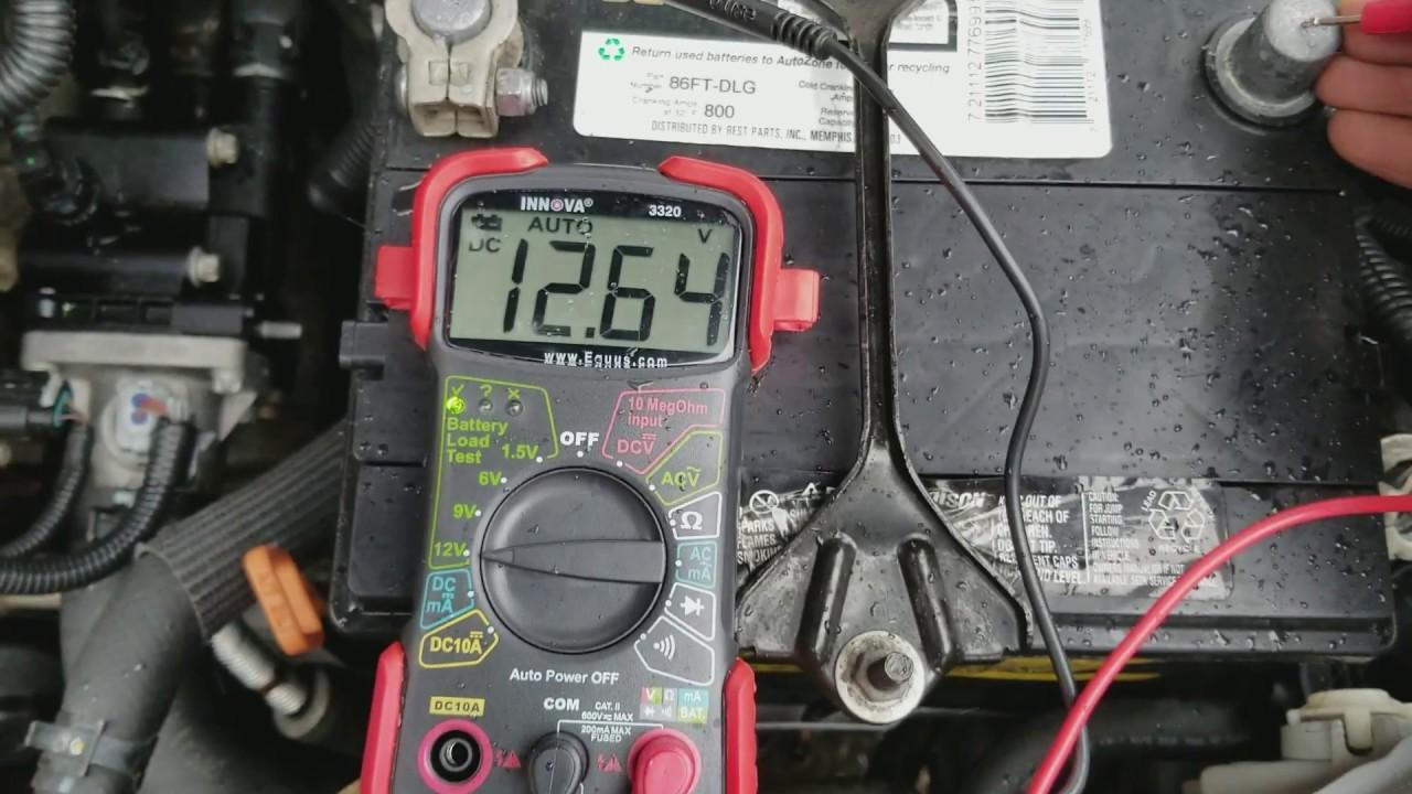 Innova 3320 multimeter how to test your car 12v battery