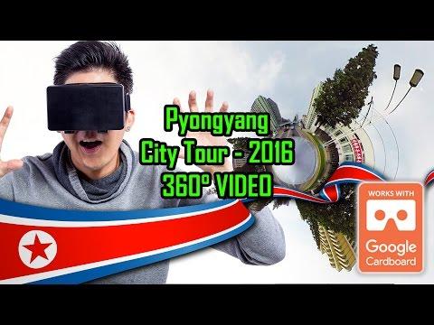 Pyongyang City Tour 2016 July - 360 VIDEO