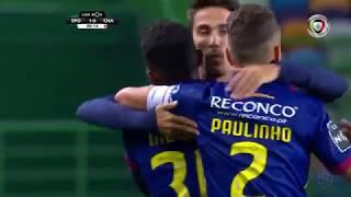 Goal   Golo Niltinho: Sporting 1-(1) Chaves (Liga 18/19 #10)