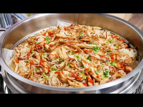 Xôi cấp tốc - Xôi mặn - Bí quyết nấu món Xôi Gà xé dẻo mềm by Vanh Khuyen