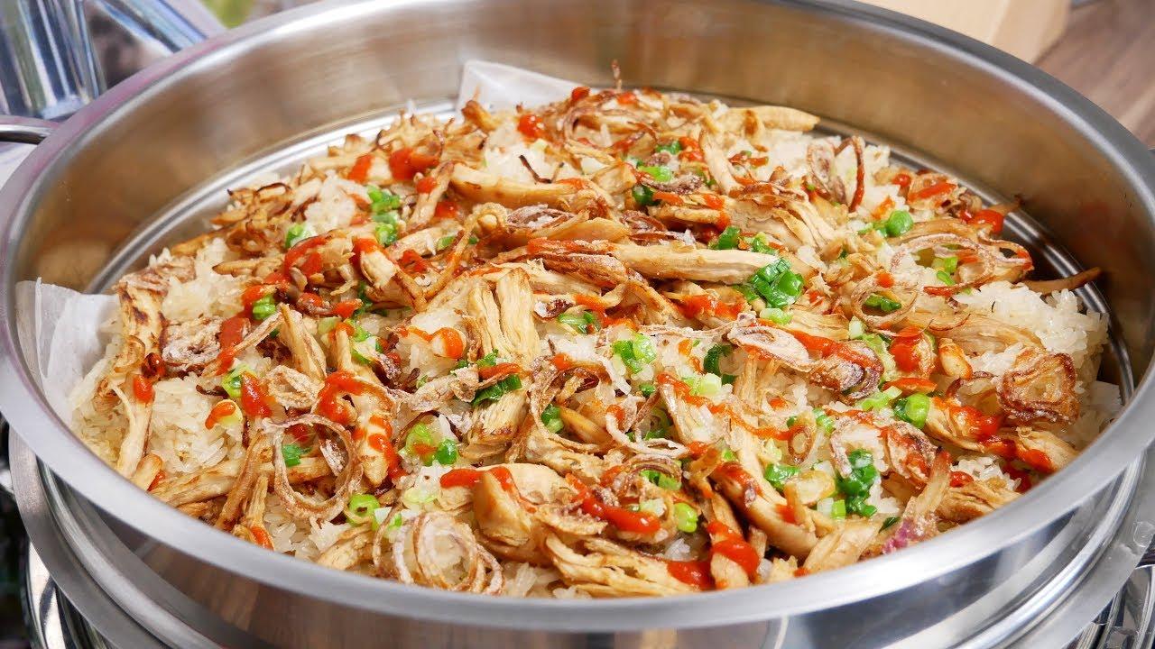 XÔI CẤP TỐC / XÔI MẶN - Bí quyết nấu món Xôi Gà xé dẻo mềm by Vanh Khuyen - YouTube