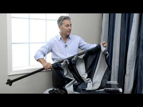 How To Hang Pole Pocket Curtains With Back Tabs , Pole Pocket & Hook Belt