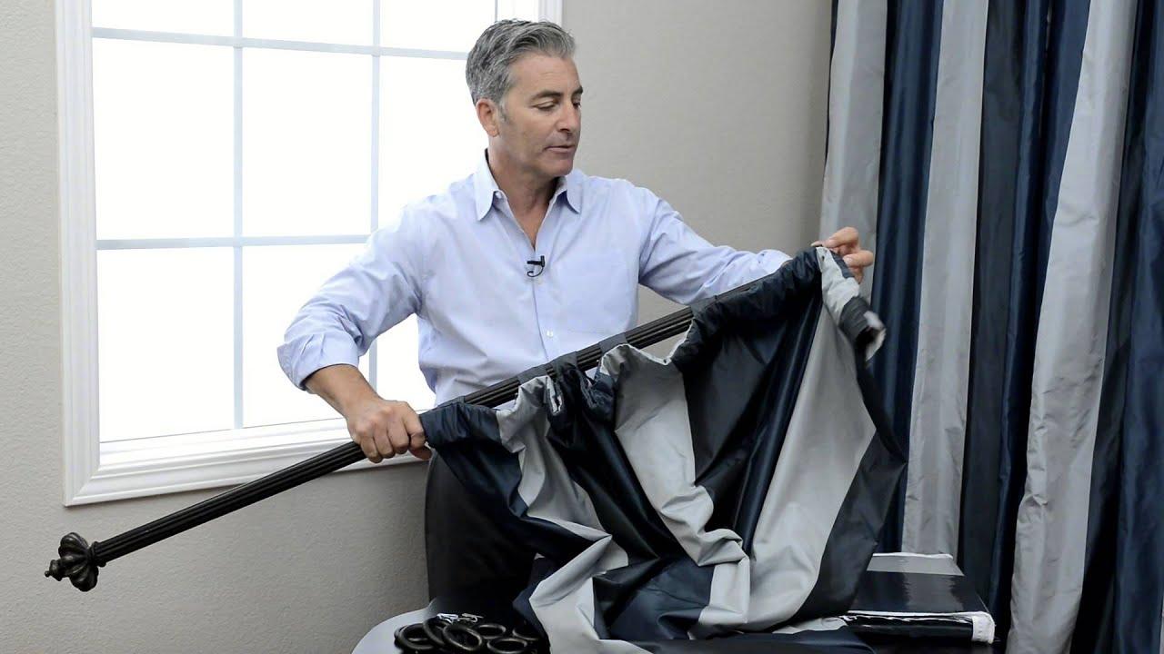 how to hang pole pocket curtains with back tabs pole pocket hook belt