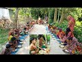 Lotpoti Paratha - Chicken Leg, Head, Neck, & Liver Curry Cooking By Women - Feed To Villagers