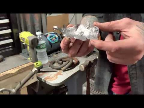 Forged Metal Oak Leaf