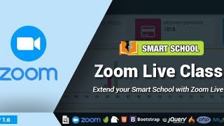 How to setup zoom live classes features in smart school software