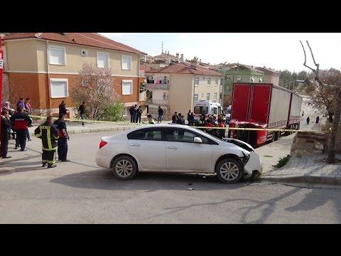 Karaman'da Kaza Yapan Oğluna Tokat