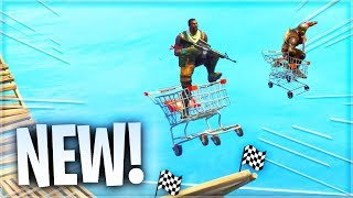 The official Cart racing LTM gamemode in Fortnite.. (*NEW* LEAKED UPDATE!)