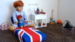 Setting up American Girl Dollhouse Boy Room ~ Rupert ~ HD!
