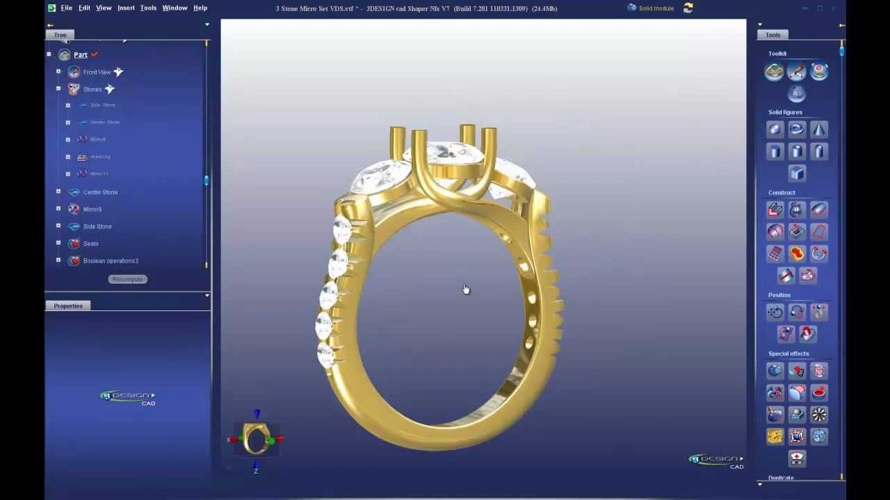 Most Powerful Tools 3DESIGN CAD 7 Jewelry Design Software YouTube