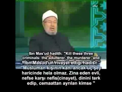 Dünya Müslüman Alimleri Birliği Başkanı Karadawi İslamdan Çıkanların Cezesı