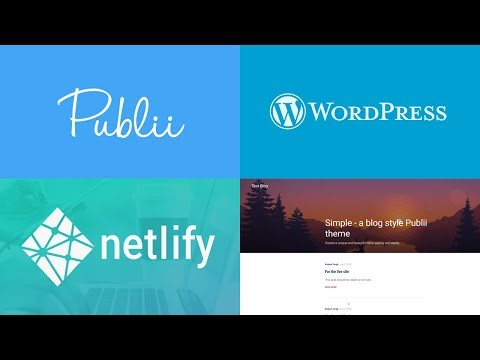 Creating Blog with Publii, Netlify and Importing Wordpress Content