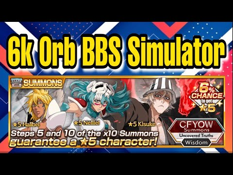 6k Orbs For Cfyow 5 Bbs Simulator This Is A Dangerous Banner Bleach Brave Souls Youtube Humorf in the chat to all the orbs lost in 2020 to the shaft, hopefully 2021 will be a better year for bbs overall! youtube